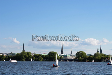 sailing on the alster