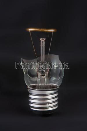 luz poder quebrado bulbo lampada gluehlampe