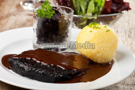 sauerbraten with potato dumplings