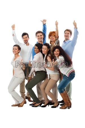 da equipe do grupo jovemcom pessoas