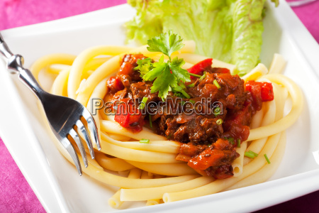 hungarian goulash with macaroni pasta
