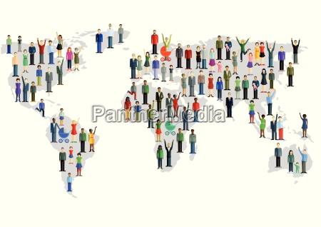 grupo de pessoas que formam um