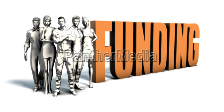 business people funding art